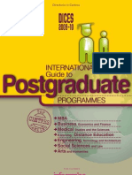 DICES 2009-10. International Guide to Postgraduate Programmes