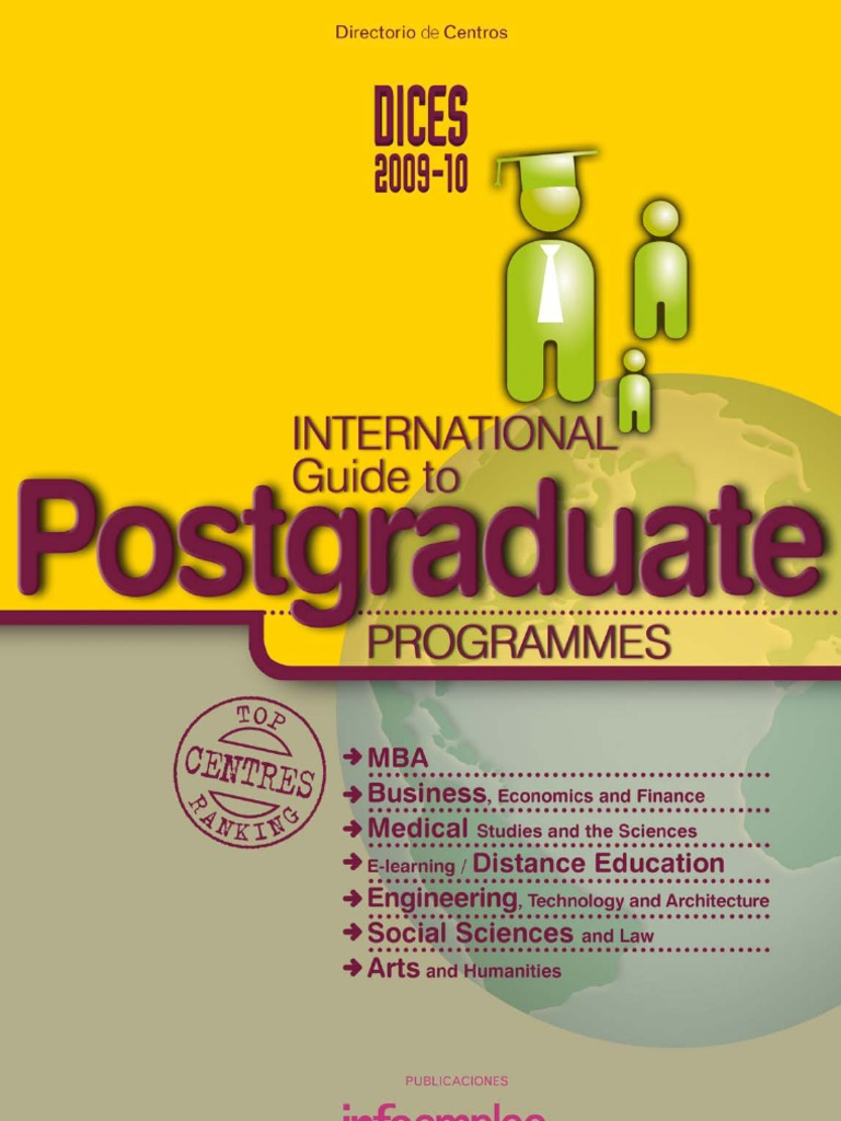 DICES 2009-10. International Guide to Postgraduate Programmes ...