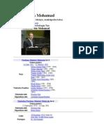 Folio tentang Mahathir Bin Mohammad