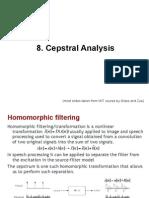 8 Cepstral Analysis