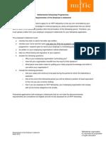 Requirements Employer Statement