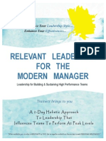 RELEVANT LEADERSHIP FOR THE MODERN MANAGER