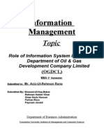 Role of Mis in Ogdcl (Finance)