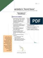 """Your Organization's """"Secret Sauce""""- Discovering Positive Deviant  Wisdom"""