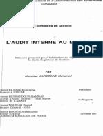 L Audit Interne Au Maroc