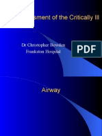 Assessment of the Critically Ill