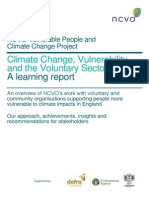 Climate Change, Vulnerability and the Voluntary Sector Report