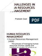 Challenges for Human Resource department