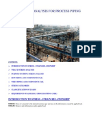 Stress Analysis for process piping