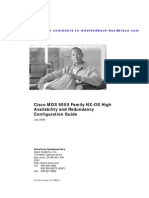 Cisco MDS High Availability and Redundancy Configuration Guide