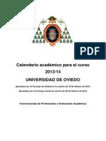 Calendario academico 2013-2014 uniovi