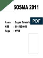 BAKSOSMA 2011