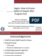Exit Strategies for Tops Workshop June 11 2012