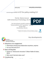 Developments in ICT for Policy-making