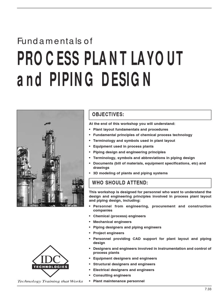 Fundamentals of process plant layout and piping design design fundamentals of process plant layout and piping design design pipe fluid conveyance buycottarizona