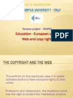 Education - European union. Web and copy right