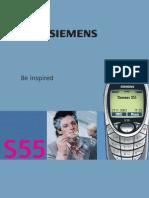 Bedienungsanleitung Siemens s55