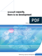 Without Capacity There is No Development