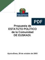 7387140 Propuesta de Estatuto Politico de La Comunidad de Euskadi