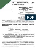 Transformarile Fizico-chimice Ale Alimentelor in Tubul Digestiv