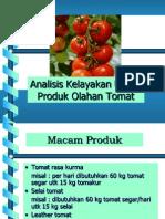 Analisis Kelayakan Usaha Produk Olahan Tomat