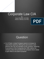 Corporate Law CIA