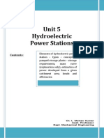 unit 5  hydro electric power stations