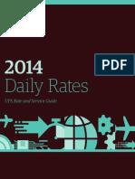 UPS Daily Rates 2014