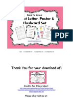 Back to School Letters Posters and Flashcards Freebie