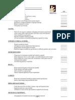 Pipe Pre-Test Checklist