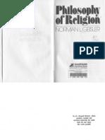 Philosophy of Religion (Norman L. Geisler, 1974 Zondervan)