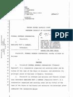 19910313a Federal Express Original Complaint