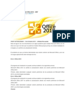 Solución a Error al instalar Office 2010
