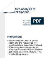 Comparative Analysis of Investment Options