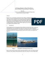 Risk-Based Fatigue Estimate of Deep Water Risers-Report