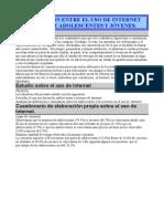 COMPARACIÓN ENTRE EL USO DE INTERNET POR PARTE DE ADOLESCENTES Y JÓVENES