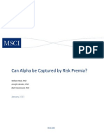 Can Alpha Be Captured by Risk Premia Public