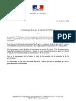 Communiqué de Manuel Valls après la décision du TA de Nantes