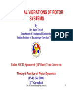 Torsional Vibrations of Rotor Systems
