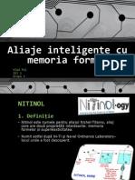 Aliaje Inteligente Cu Memoria Formei