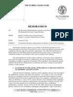 Residency Memo Florida Legislature Legal Counsel