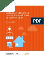 Evaluacion Economica Para La Adquisicion Del Un Calefon Solar