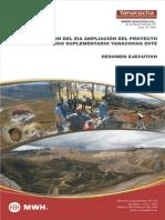 Minera Yanacocha – IV Modificacion del EIA Ampliación del Proyecto Carachugo Suplementario Yanacocha Este – Resumen Ejecutivo (Español)