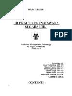 Hrm Hr-it Grp6 Mawana Sugars Report