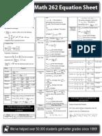 Intermediate Calculus Study Sheet (MATH 262)
