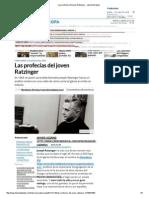 Las profecías del joven Ratzinger en Libertad Digital (artículo)
