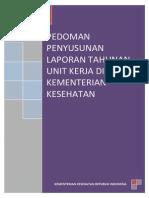 Pedoman Penyusunan Laporan Tahunan Unit Kerja Kemenkes