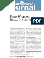 [MWJ0509] Ultra Wideband Signal Generation