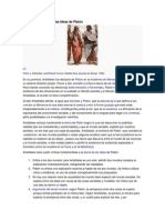 Críticas a la teoría de las Ideas de Platón