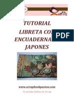 Scrapbookpasion Tutorial Libreta Encuadernado Japones